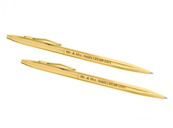 Gepersonaliseerde Pennen voor Bruidspaar Goud
