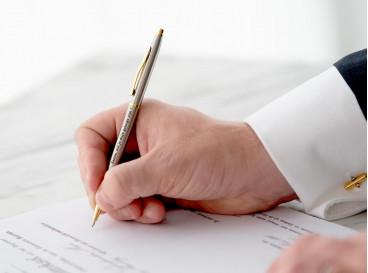 Getuige vragen met graveerbare pen