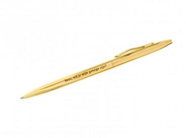 Pen met Gravering Goud