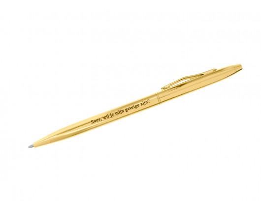Pen met Gravering Goud Kleurig