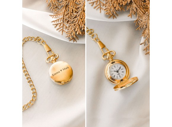 Mini Pocket Watch Goud Kleurig