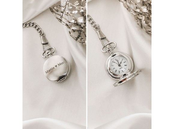 Mini Pocket Watch Zilver
