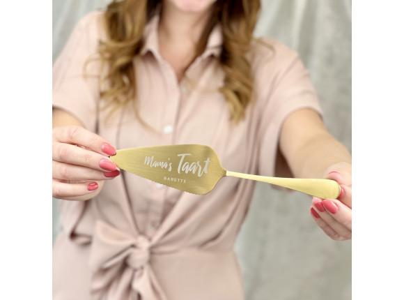 Taartschep met naam - Mama's taart kleur goud