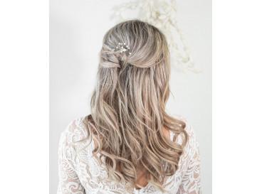 Haaraccessoire Bruid Pareltjes Zilver