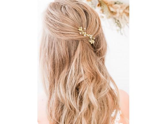Haarsieraad bruid met steentjes goud kleurig