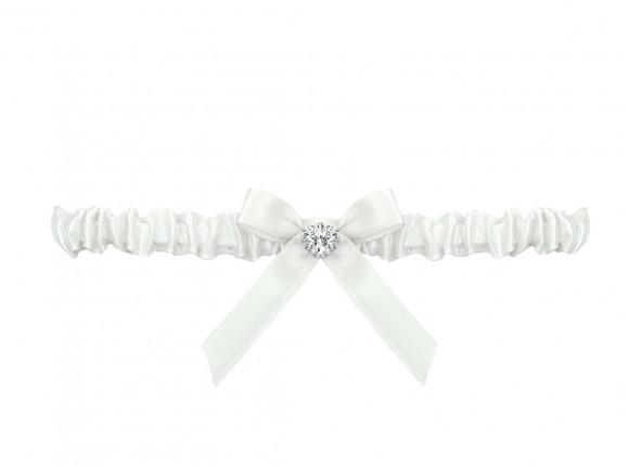 Kousenband bruid met strikje en steentje