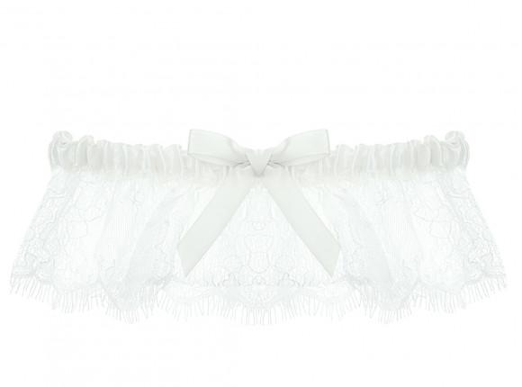 Kanten kousenband voor de bruid met strik
