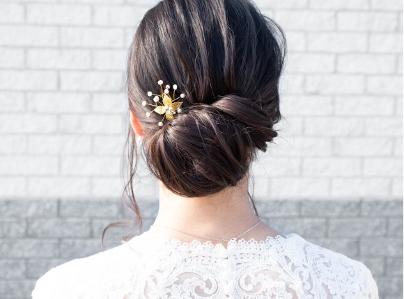 Romantic hairpin gold