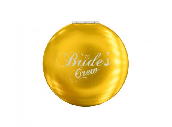DRKS Graveerbaar Bride's Crew Spiegeltje Goud voor de vriendinnen van de bruid