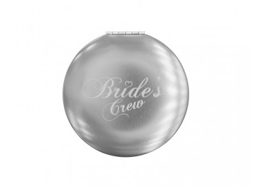 DRKS Graveerbaar Bride's Crew Spiegeltje Zilver voor de vriendinnen van de bruid