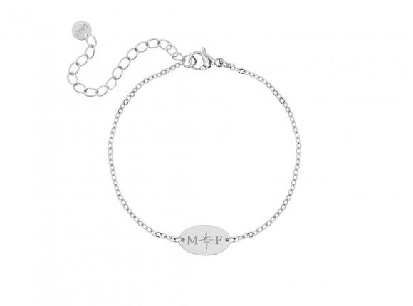 Armband 2 initialen ovaal