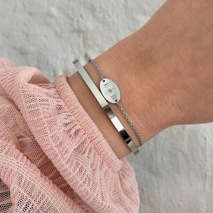 Zilveren armbanden combinatie
