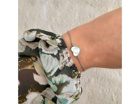 Armband sea shell hartje