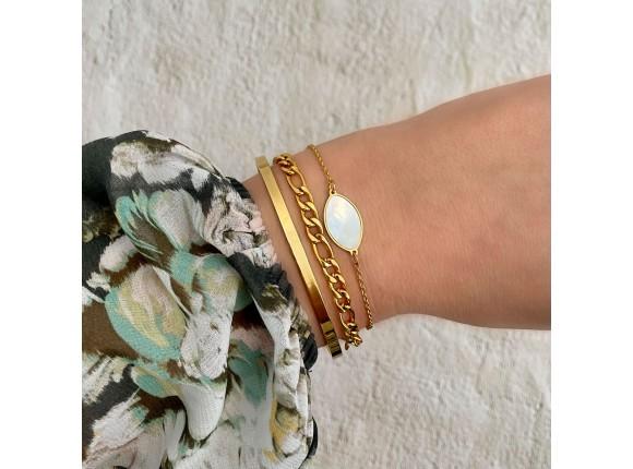 Armband sea shell goud kleurig