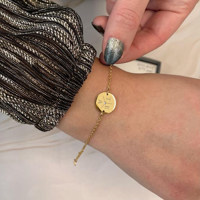 Mooie armband met letters voor een trendy look