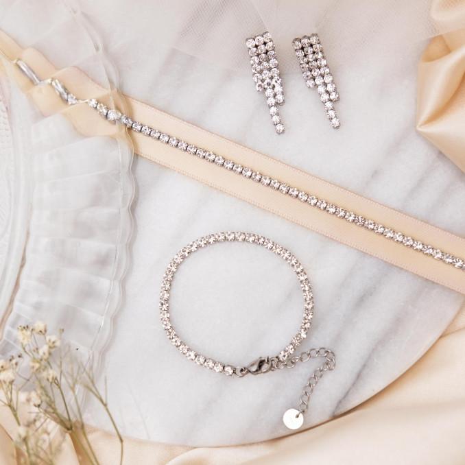 Mooie sieraden set van sieraden zilver