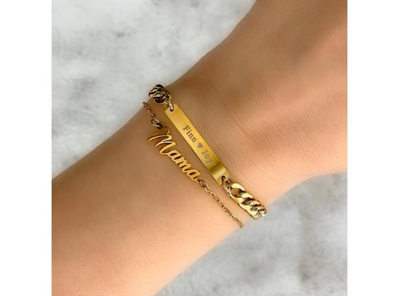 Mama armband goud kleurig