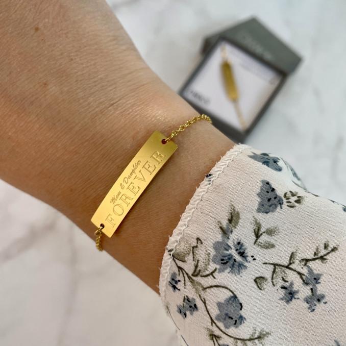 moeder dochter armband goud kleurig