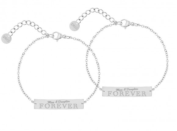 Mom & daughter forever armband