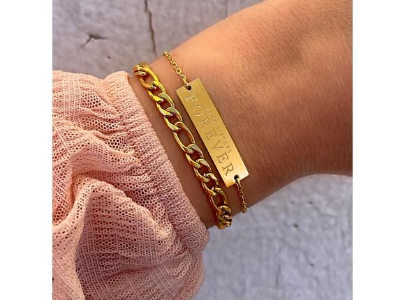 Best sisters forever armband goud kleurig
