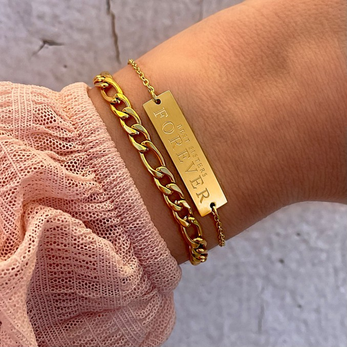 Best sisters armband om de pols om te kopen
