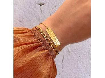 Best friends forever armband kleur goud