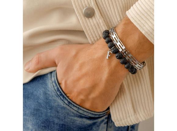 Stalen heren armband