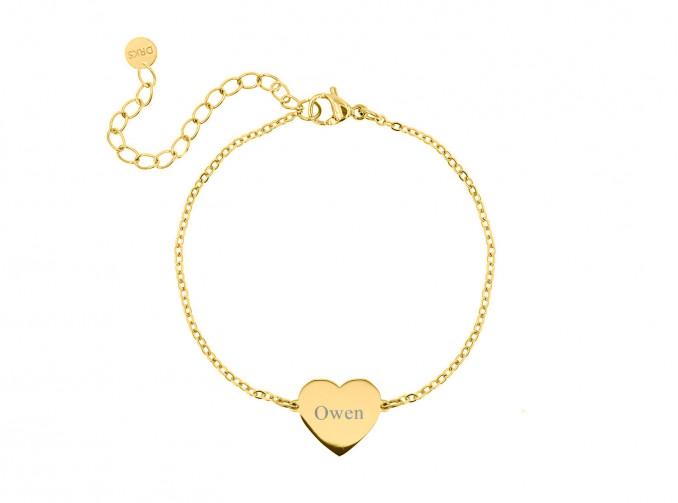 Graveerbare armband love goud kleurig