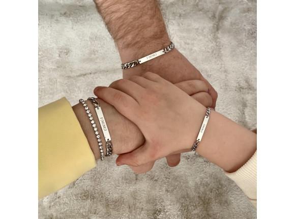 Vader & Kind armband personaliseren