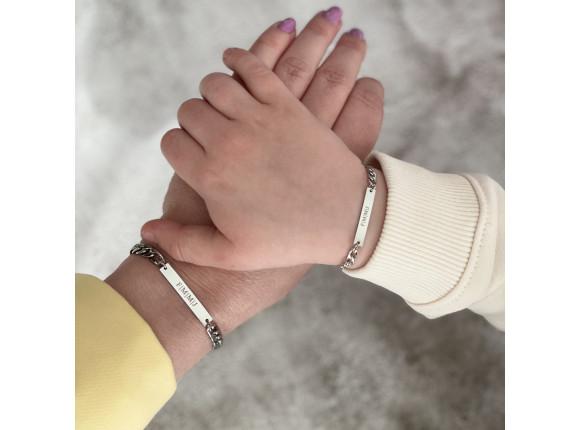 Moeder & Kind armband graveerbaar