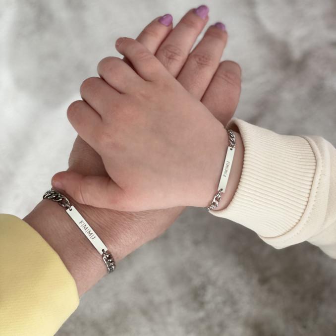 Shop de graveerbare moeder en kind armband snel