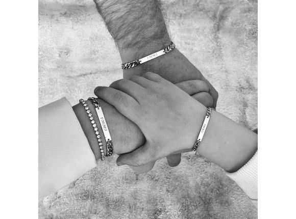 Vader & Kind armband personaliseren goud kleurig
