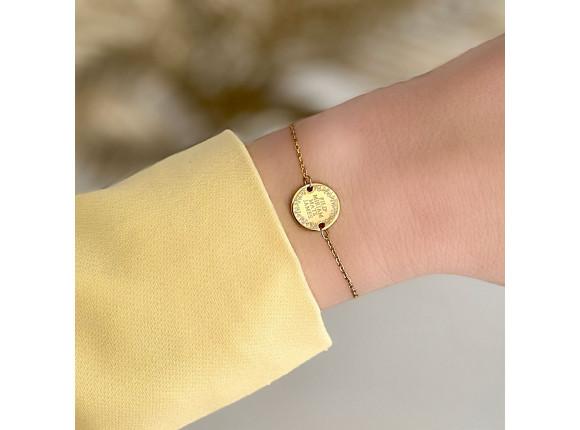 Familie armband goud kleurig