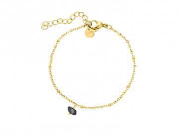 Gouden armband met hematiet