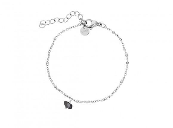 Fijne zilveren armband met hematiet