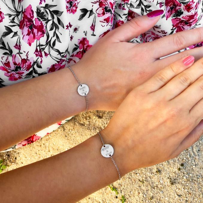 Shop de mooiste zilveren moeder en dochter armbandjes bij DRKS