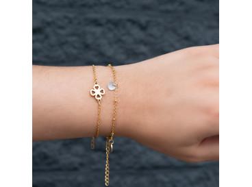 Gouden minimalistische armband met schelpje DRKS