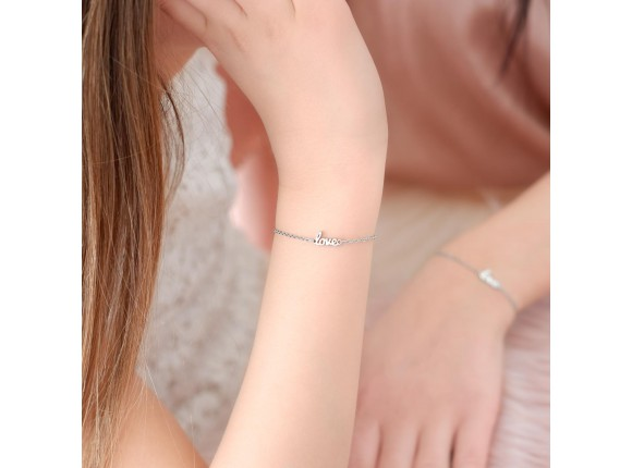 Love armband voor kind in zilver