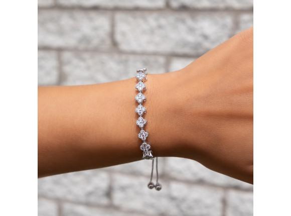 Klassieke bruids armband in maat verstelbaar