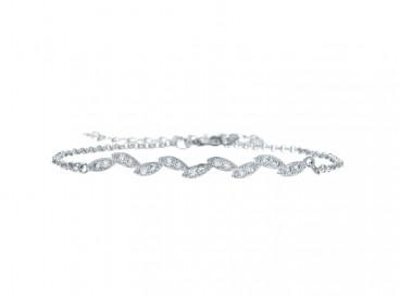 Minimalistische bruids armband met steentjes