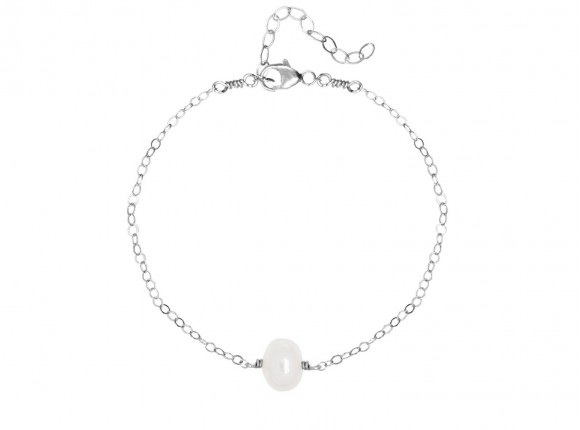 subtiele parel armband in het zilver