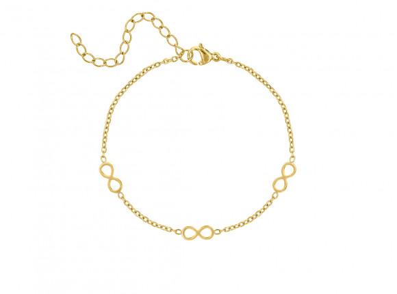 Armband infinity tekens goud kleurig