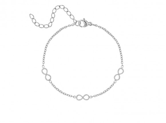 Kinder infinity armbandje Zilver