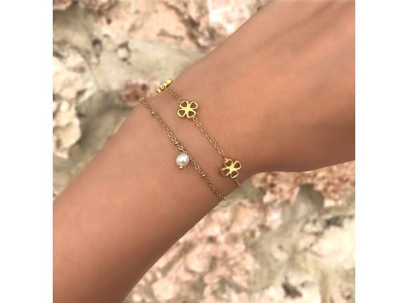 Armband Klavertjes Goud