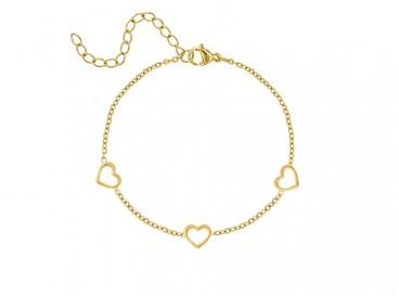 Armband Hartjes Goud