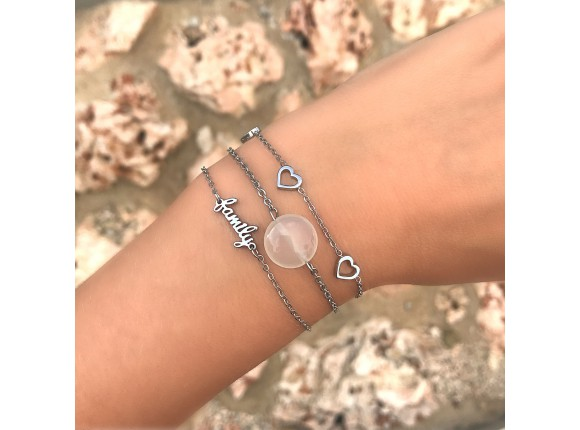 Armband hartjes zilver