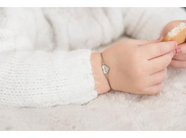 Armband Hartje Graveren Kind Zilver