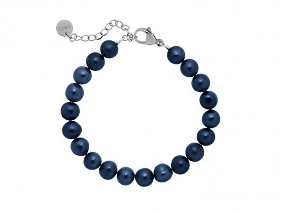 Klassieke Armband met Parels Donkerblauw