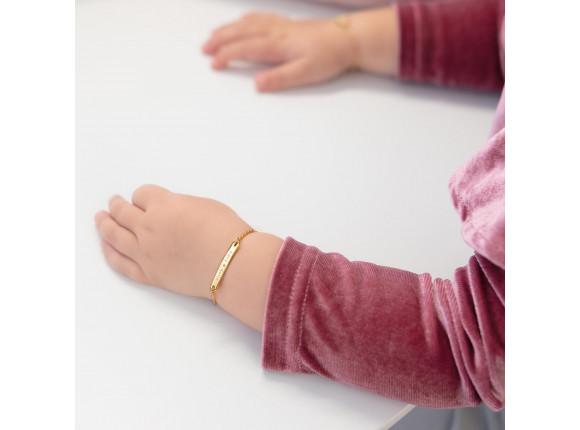 Baby Armband met Naam Goud