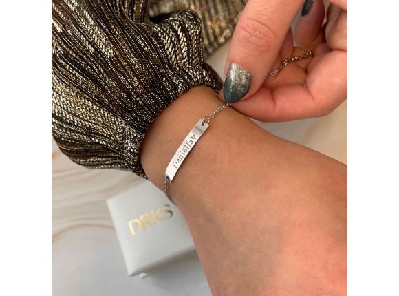 Naam Armband Zilver Kleurig